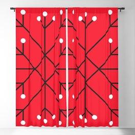 Mod Snowflake Dark Cherry Blackout Curtain