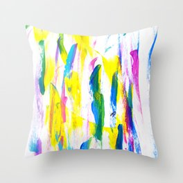 Paint Smears Colorful Abstract Throw Pillow