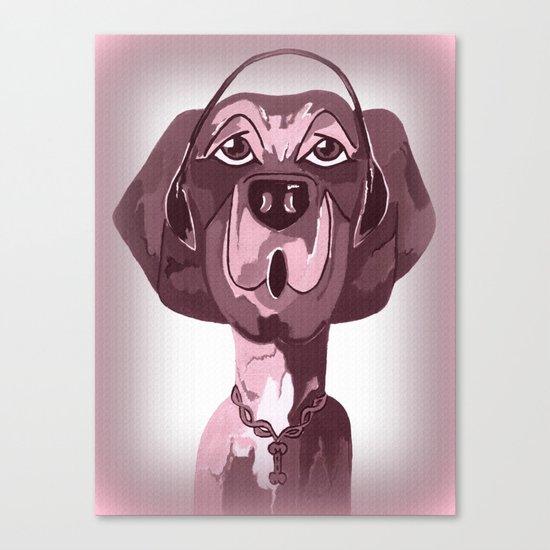 Doggie Singing The Blues Canvas Print