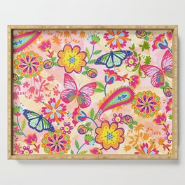 Butterflies and Fowers Serving Tray