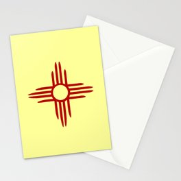 flag of new mexico hand drawn 2 Stationery Cards