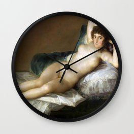 Maja Desnuda (The Nude Maja) by Francisco Goya Wall Clock
