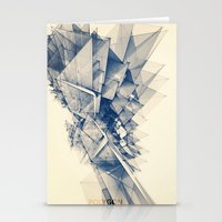 polygon Stationery Cards featuring Polygon Tower by Intelligent Pencil
