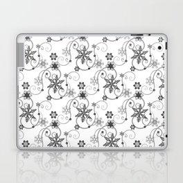 Snowflakes (Black) Laptop & iPad Skin