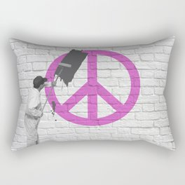 No Peace Allowed! Rectangular Pillow
