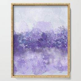 Choppy Purple Ocean Water Serving Tray