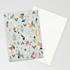 Geometric boho succulents Stationery Cards