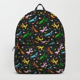 An Unordinary Array of Praying Mantises - Black Backpack