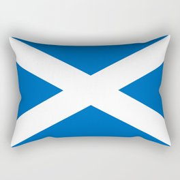 National flag of Scotland - Authentic version to scale and color Rectangular Pillow