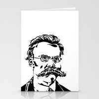 nietzsche Stationery Cards featuring Friedrich Nietzsche by Joshua M. Paschal