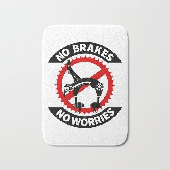 No Brakes No Worries Bath Mat