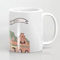 archer Mugs featuring Archer Avenue by Nan Lawson
