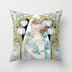 Privat-Livemont, T. (1861–1936) - Le Bec Liais 1904 Throw Pillow