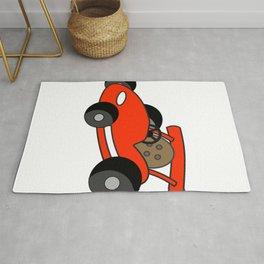 Cartoon Go-Kart Rug