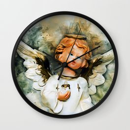 Angel From Heaven Wall Clock