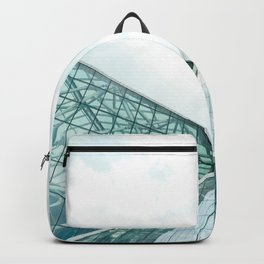 Turquoise Glass Building Backpack