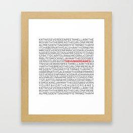 Type: The HungerGames Framed Art Print