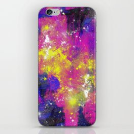 Journey Through Space - Abstract purple and blue, space themed artwork iPhone Skin