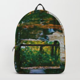 Autumn Leaf in Water (Color) Backpack