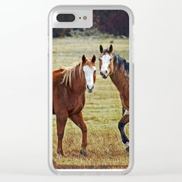 Horse Whispers Clear iPhone Case