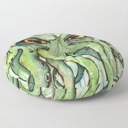 Cthulhu HP Lovecraft Green Monster Tentacles Floor Pillow