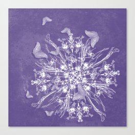 ghost bouquet and butterflies Canvas Print