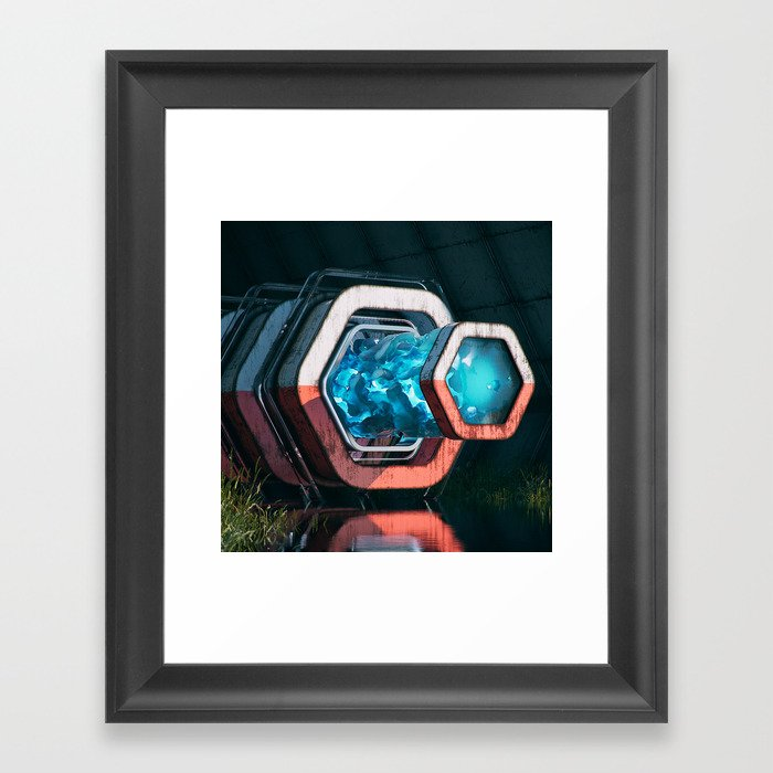 Mutifractal Tunnel Framed Art Print