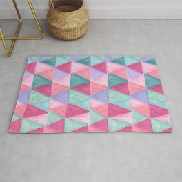pastel triangle pattern Rug