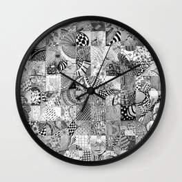Doodling Together #6 Wall Clock