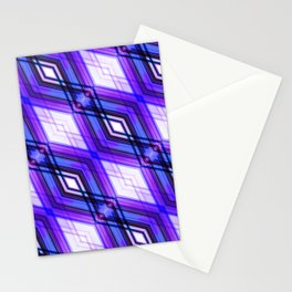 Blockchain - Ultra Violet Minimal Geometric Abstract Stationery Cards