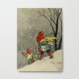 """""""Through the Snowstorm"""" by Jenny Nystrom Metal Print"""
