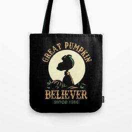 Great Pumpkin Believer Tote Bag