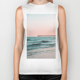 Beach Pier Sunrise Biker Tank