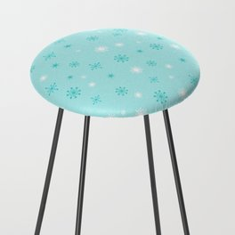 AFE Turquoise Snowflakes Counter Stool