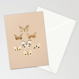 pale moths Stationery Cards