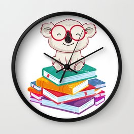 Reading Koala Wall Clock