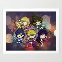 sailor moon Art Prints featuring Sailor moon by Madoso
