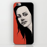 lip iPhone & iPod Skins featuring Lip Ring by fossilized