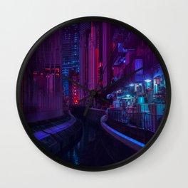 Tokyo Nights / Glitch City / Liam Wong Wall Clock