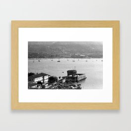 Portoferraio from above Framed Art Print