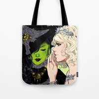 wicked Tote Bags featuring Wicked by Natalie Nardozza