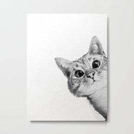 sneaky cat Metal Print