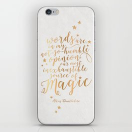 Dumbledore's Magic Words iPhone Skin