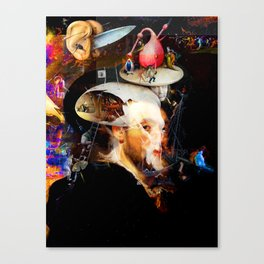 Bosch and Rubens Sandwich with a Peep of Magritte Canvas Print