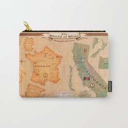 World of Wine Map Carry-All Pouch