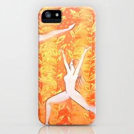 Yoga poses 01 iPhone Case