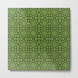 Greenery Geometric Metal Print