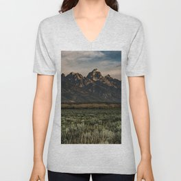 Teton Morning Unisex V-Neck