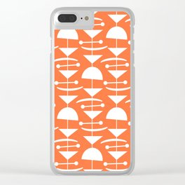 Retro Mid Century Modern Abstract Mobile 653 Orange Clear iPhone Case