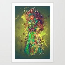 Abstract Carneval Art Print